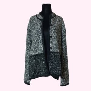 Karl Lagerfeld Sweater Jacket Black and White